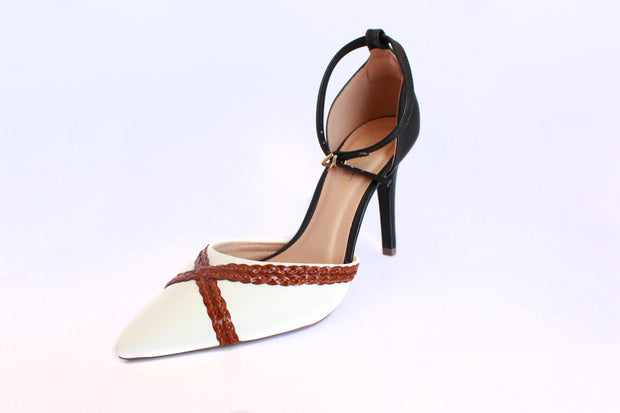 Women's Pointed Toe Ankle Strap High Heel Shoes.