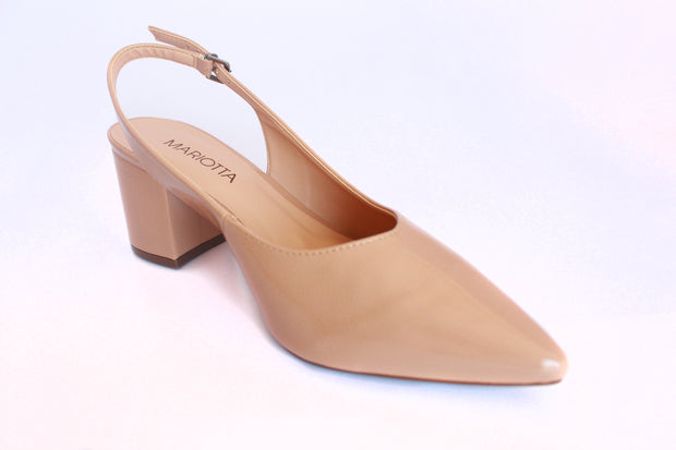 Pointed Toe Pumps Slingback Ankle Buckle