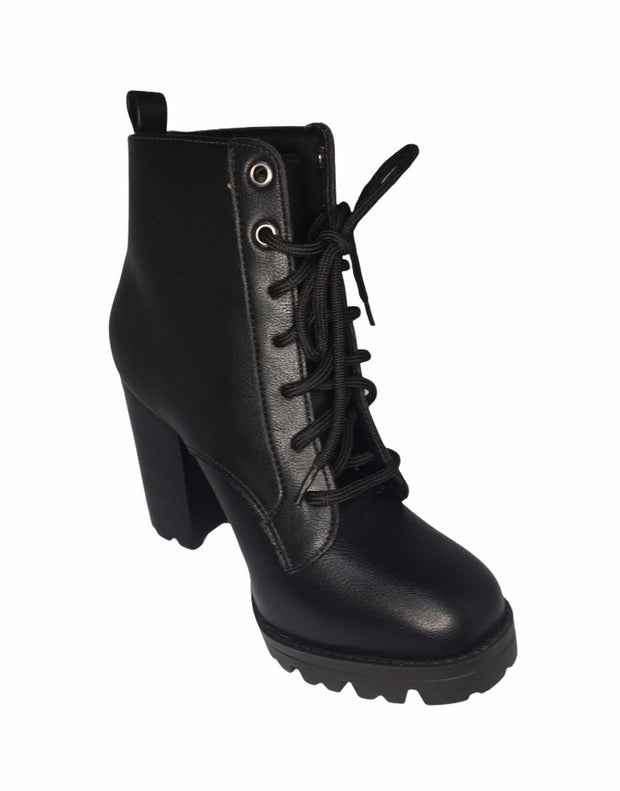 Women's Fashion Ankle Boots  Chunky High Heel Booties