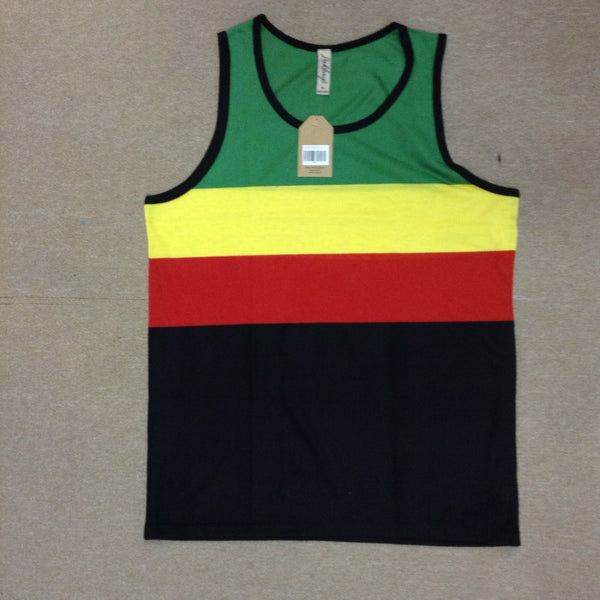 Tripple Stripe Men's Rasta Tank Top