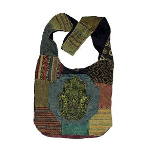 Cotton Hamsa Patchwork Bag
