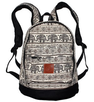 Elephant Print Backpack
