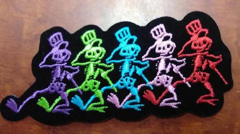 Grateful Dead Skeleton Line Patch