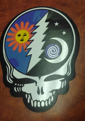 Sun and Moon Lightning Bolt Stealie Sticker