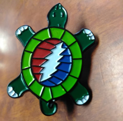 Lightning Bolt Turtle Hat Pin