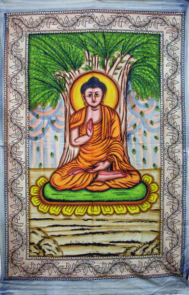 Painted Buddha Tapestry
