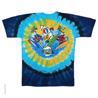 Grateful Dead Summer Beach Bear Bingo Tie Dye T-shirt