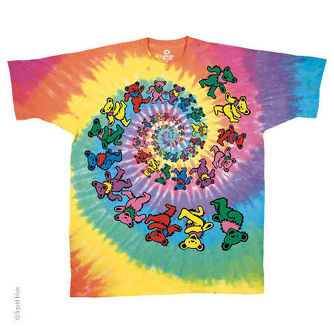 Grateful Dead Spiral Bears Tie Dye T-Shirt