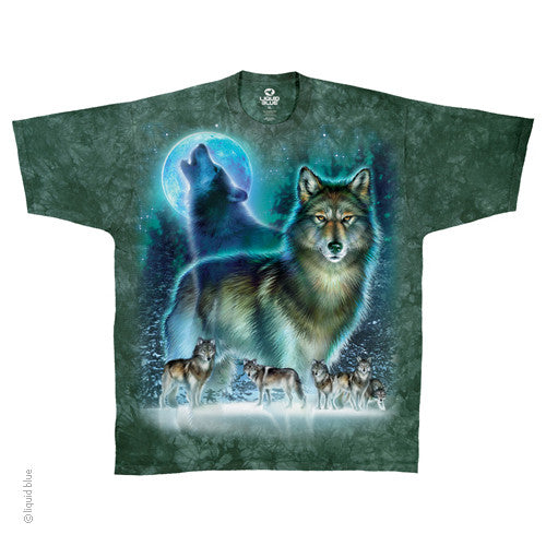 Mens Wolf Moon Tie-dye T-Shirt