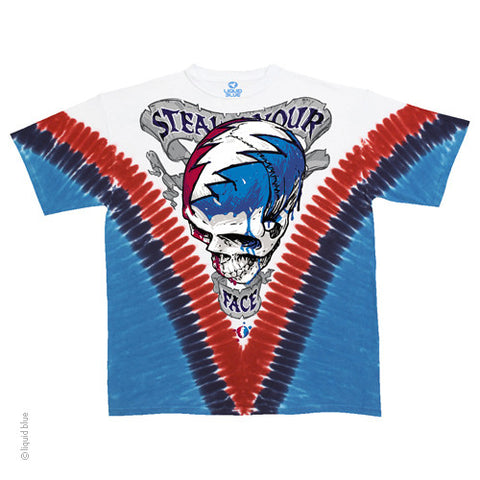 Grateful Dead Melting Steal Your Face Tie Dye T-shirt
