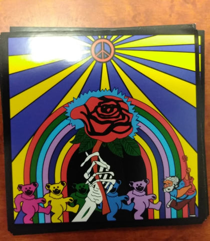 Grateful Dead Sunshine Rose and Bears Sticker