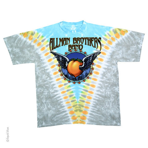 Allman Brothers Flying Peach Tie Dye T-Shirt