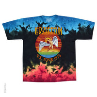Led  Zeppelin ICARUS US Tour 1975 Tie dye T-Shirt