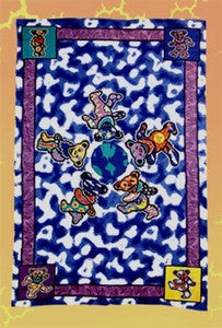 Grateful Dead Bears around the World Tapestry