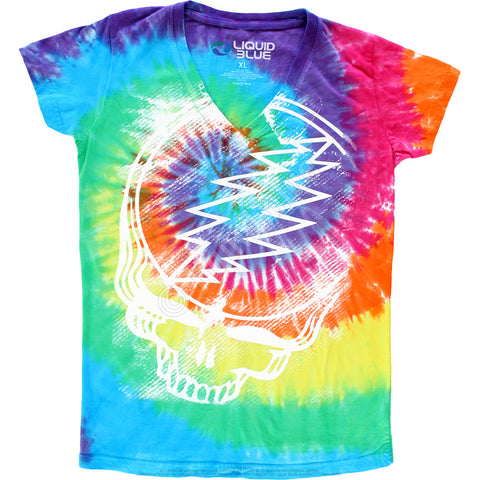 Grateful Dead Stealie Tie Dye Juniors T-shirt