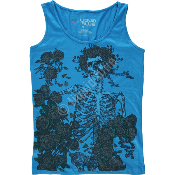 Grateful Dead Skeleton And Roses Mens Tank