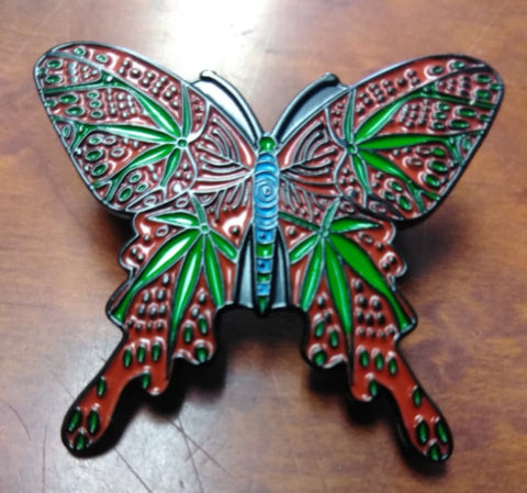 Magic Leaf Butterfly Hat Pin