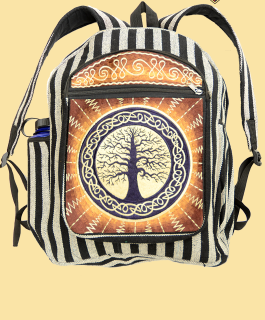 Celtic Tree Embroidered Backpack