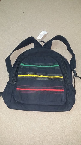 Black Rasta Stripe Backpack