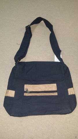Plain Canvas Messenger Bag
