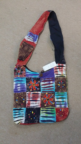 Colorful Patchwork Hobo Bag