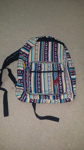 Gheri Striped Cotton Backpack