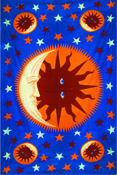 Good Morning Sun Moon Tapestry