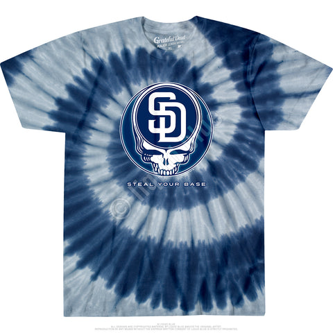Padres Steal Your Base Spiral Tie Dye T Shirt
