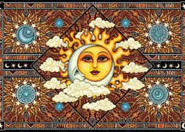 Sun, Moon & Clouds Tapestry