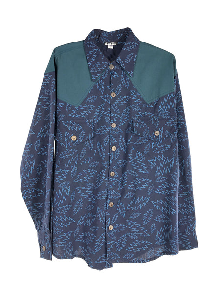 Mens Grateful Dead Long Sleeve Bolt Print Button Down Shirt