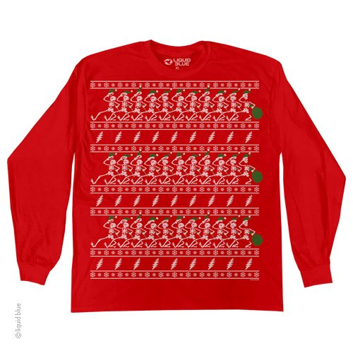 Grateful Dead Christmas Sweater LS T-Shirt