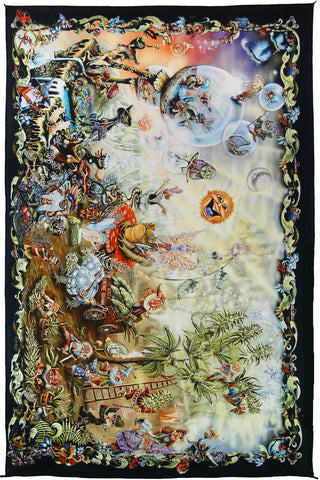 Bubbles and Gnomes Mini Tapestry
