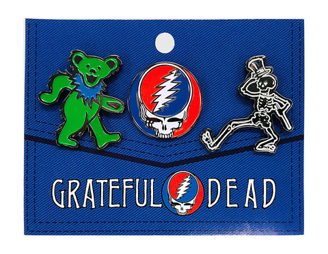 Grateful Dead 3-Pack Hat Pins