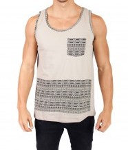 Men's Geometric Om Tank Top