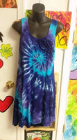 Tie Dyed Ruffle Dress With Pockets