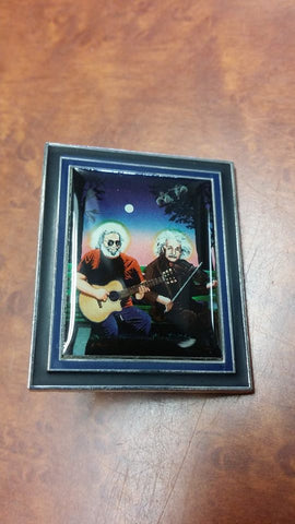 Jerry Garcia & Einstein Hat Pin