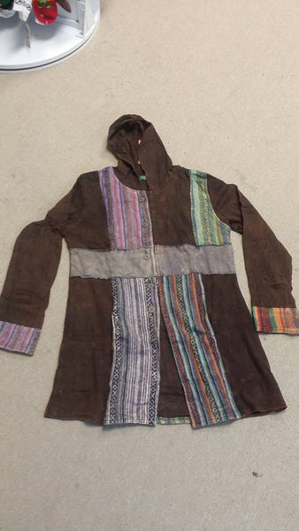 Patchwork Cotton Long Jacket