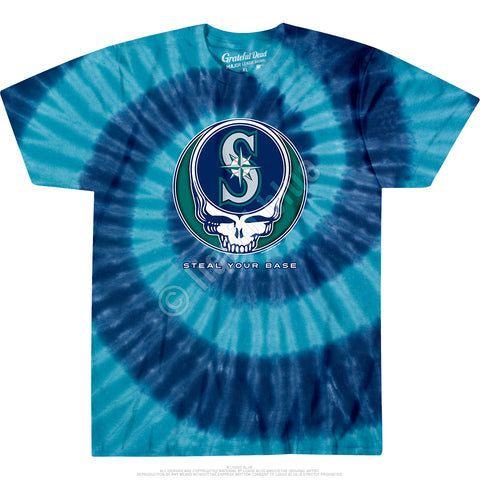 Mariners Steal Your Base Spiral Tie Dye T Shirt