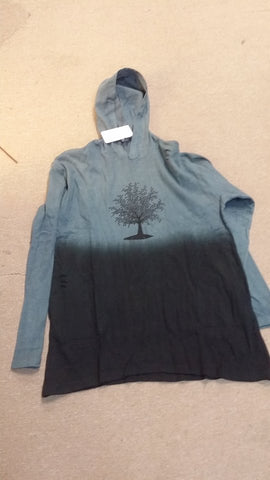 Womens Peek-A-Boo Tree Of Life Hooded Top