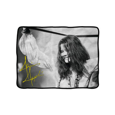 Janis Joplin Smile Fleece Blanket