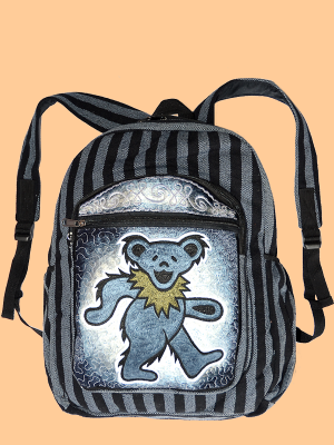 Grateful Dead Hand Embroidered Blue Bear Backpack