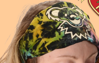 Grateful Dead Bear Tie Dye Cotton Headband