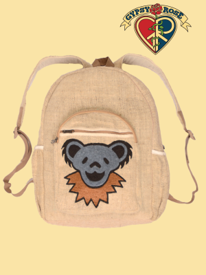 Grateful Dead Dancing Bear Face Hemp Backpack