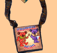 Grateful Dead Bears In The Band Emroidered Bag