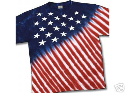 Stars And Stripes Tie Dye Youth T Shirt