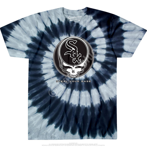White Sox Steal Your Base Spiral Tie Dye T Shirt