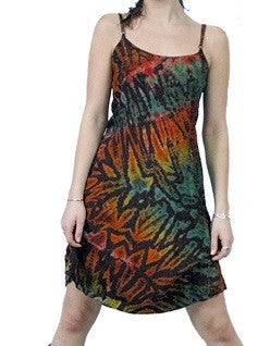 Tie-Dye Mini String Womens Dress