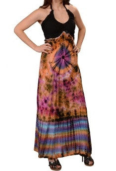 Tie-Dye Head Space Hypnosis Womens Maxi Dress