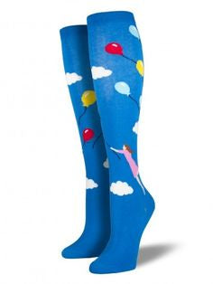 Womens Balloon Girl Knee High Socks