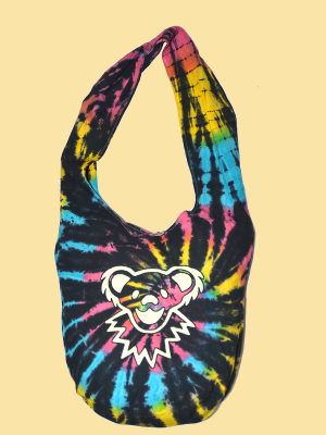 Grateful Dead Dancing Bear Tie-Dye Peddler Bag